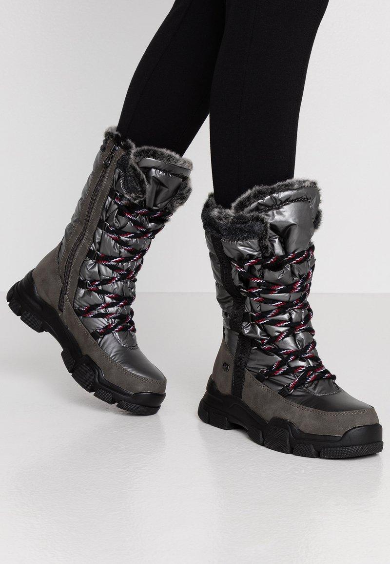 TOM TAILOR - Vinterstøvler - coal