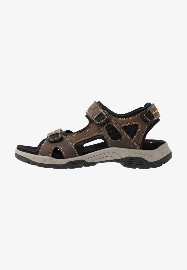 Walking sandals - mokka