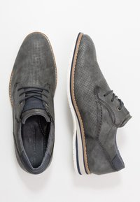 TOM TAILOR - Volnočasové šněrovací boty - stone - 1