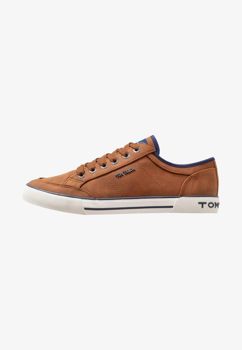 TOM TAILOR - Sneakersy niskie - cognac
