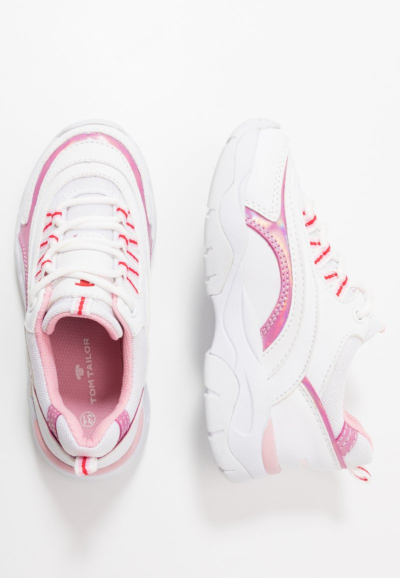 TOM TAILOR - Sneakers - white/rose