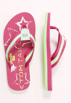 T-bar sandals - pink/white/lime