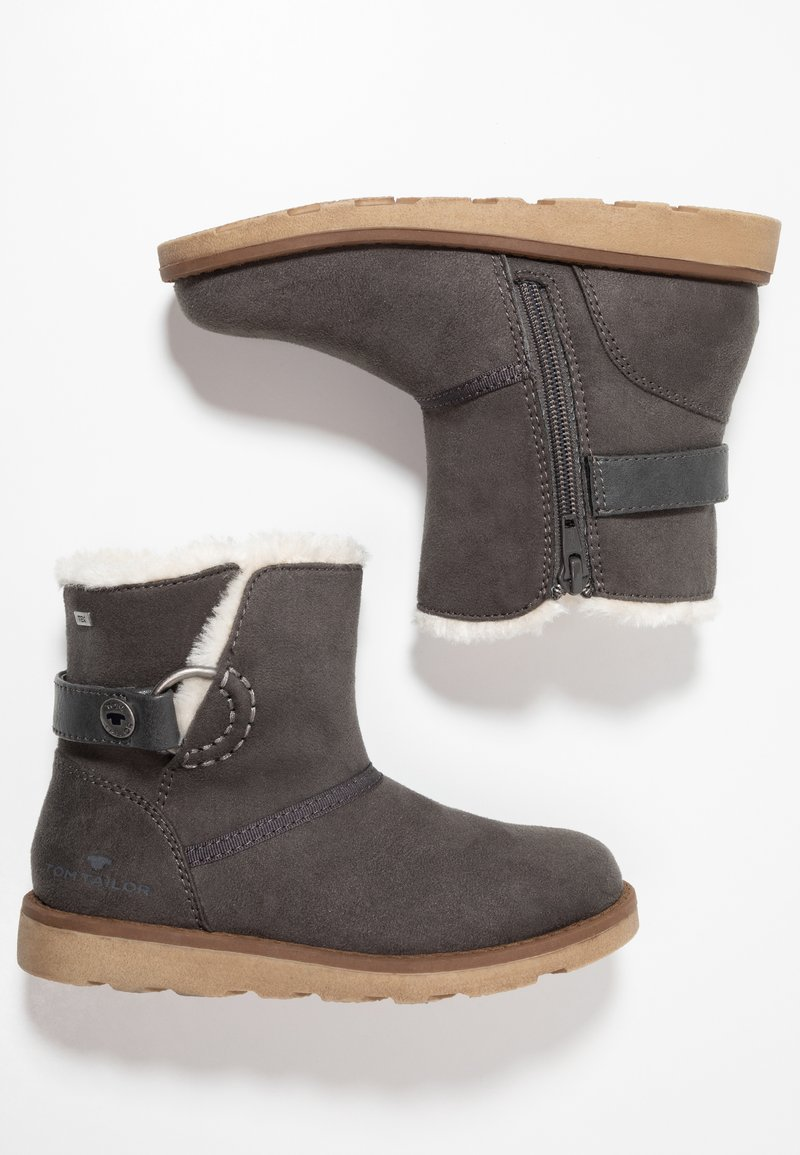 TOM TAILOR - Classic ankle boots - coal