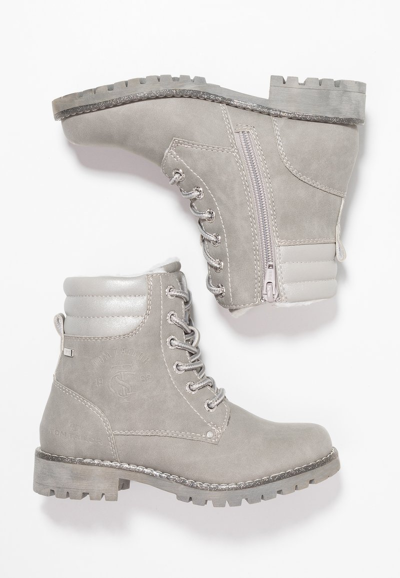 TOM TAILOR - Lace-up ankle boots - grey