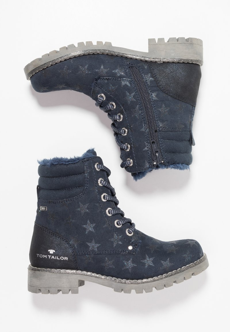 TOM TAILOR - Lace-up ankle boots - navy