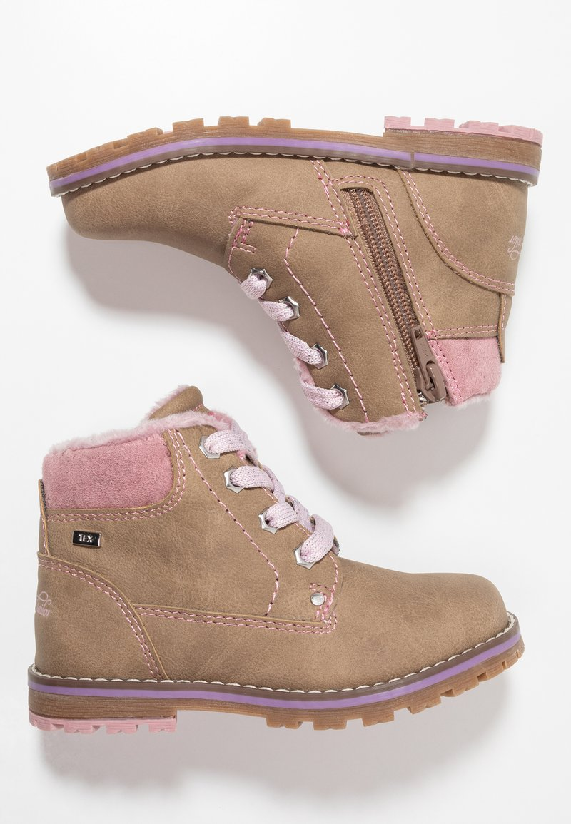 TOM TAILOR - Lace-up ankle boots - beige