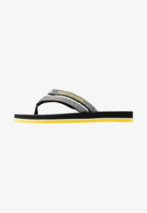 T-bar sandals - black/white/yellow