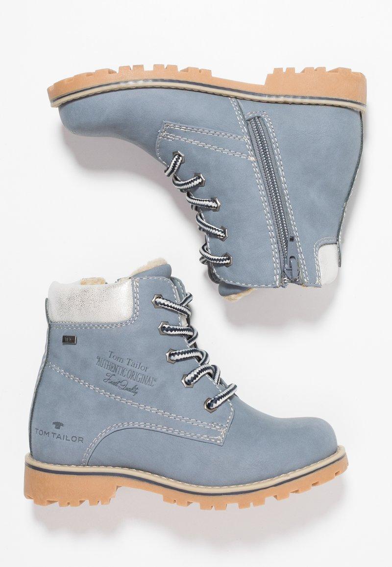 TOM TAILOR - Snørestøvletter - jeans/silver