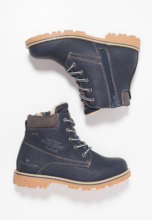 Bottines à lacets - navy