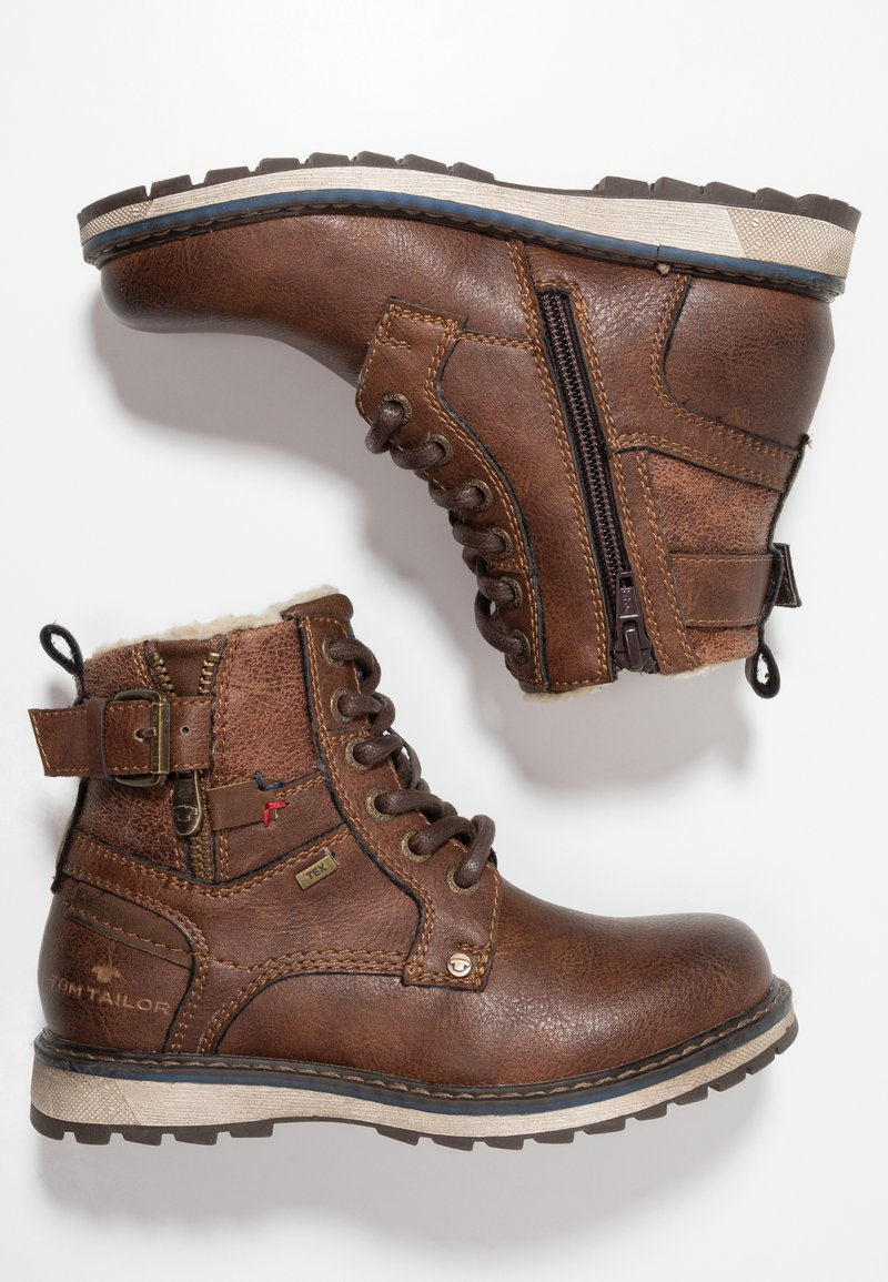TOM TAILOR - Lace-up ankle boots - rust