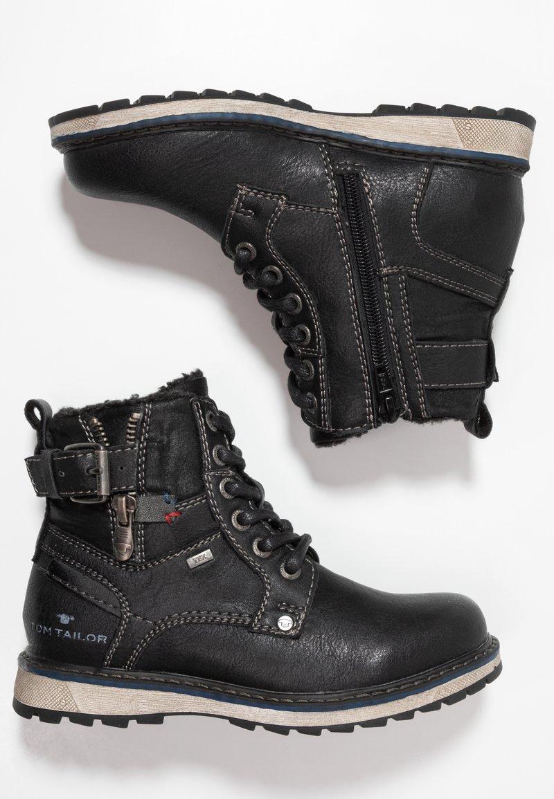 TOM TAILOR - Snørestøvletter - black