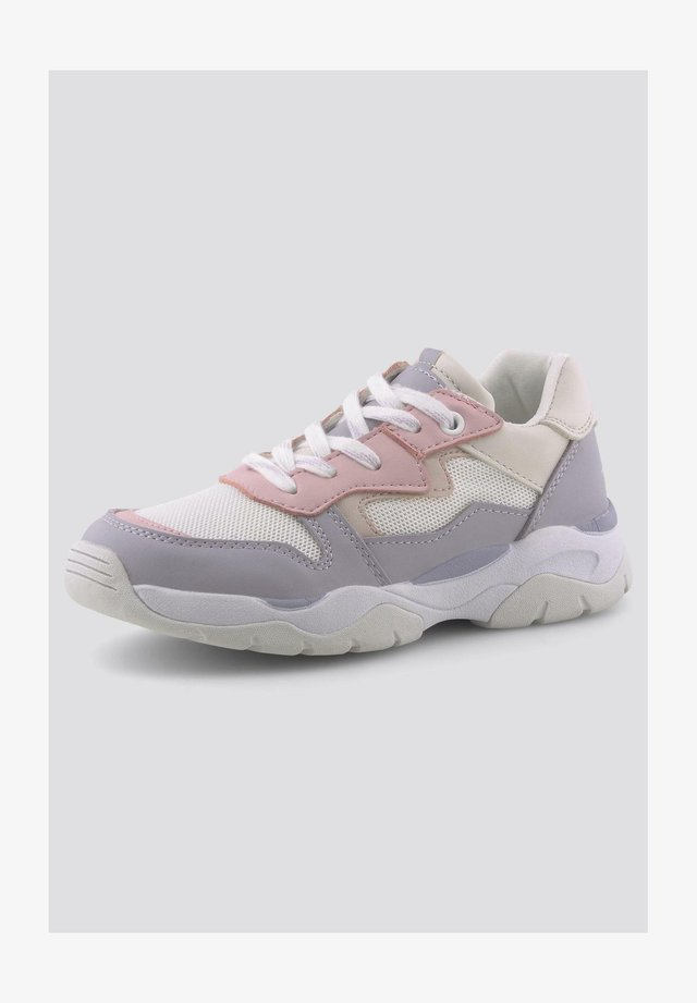 Sneakers laag - white-viola-rose