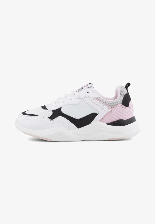 SHOES SNEAKER IN PASTELLFARBEN - Veterschoenen - white-black-rose