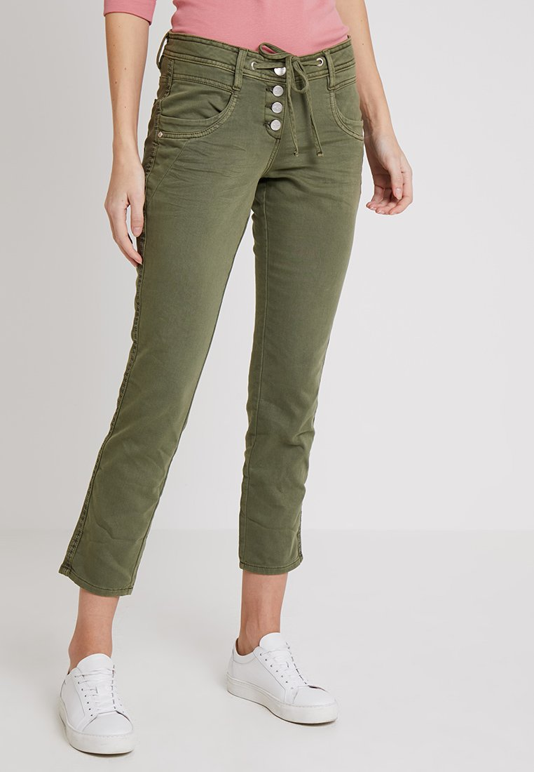 TOM TAILOR - Trousers -   Green