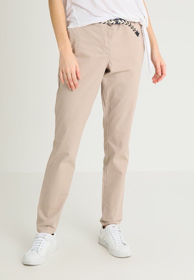 TOM TAILOR - Chino kalhoty - dusty taupe