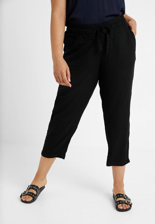 LOOSE FIT PANTS - Stoffhose - deep black
