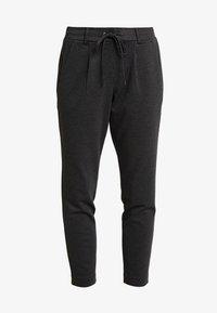 TOM TAILOR - FIT PANTS ANKLE - Tracksuit bottoms - black/grey - 6