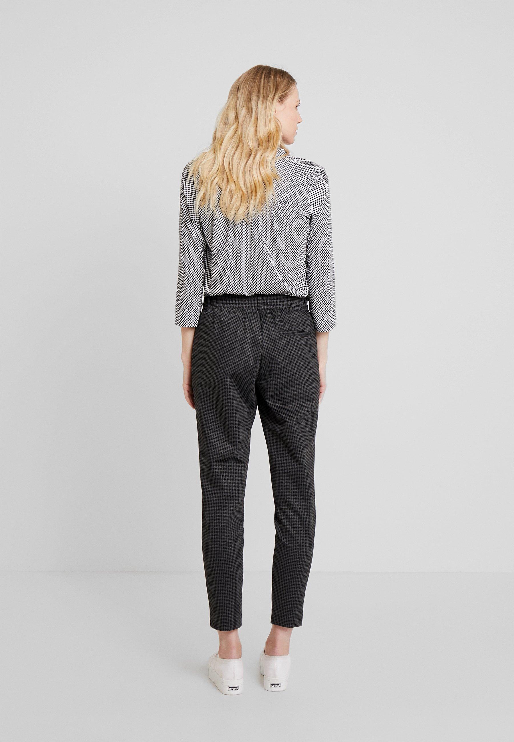 AnklePantalon Tom Tailor Pants grey Fit De Survêtement Black NOm8wnv0