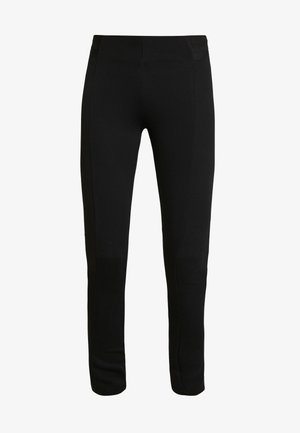 SOLID PONTE TREGGINGS - Legging - deep black
