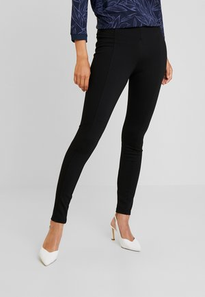 SOLID PONTE TREGGINGS - Legginsy - deep black