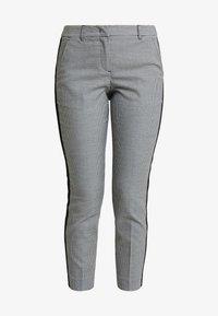 TOM TAILOR - MIA SLIM - Spodnie materiałowe - black/white - 3