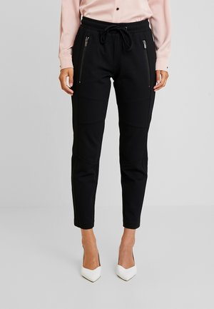 ZIPPED PANTS - Tracksuit bottoms - deep black/grey