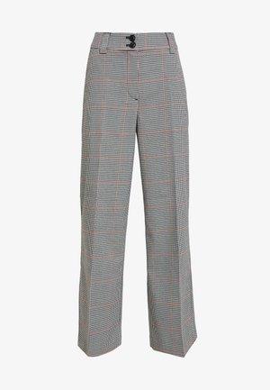 CHECKED CULOTTE - Kalhoty - black/white/red/grey