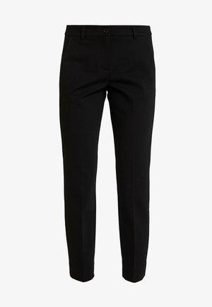 MIA SLIM PIPING - Bukse - deep black