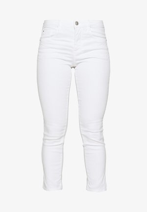 TOM TAILOR ALEXA CROPPED - Jeans Slim Fit - white