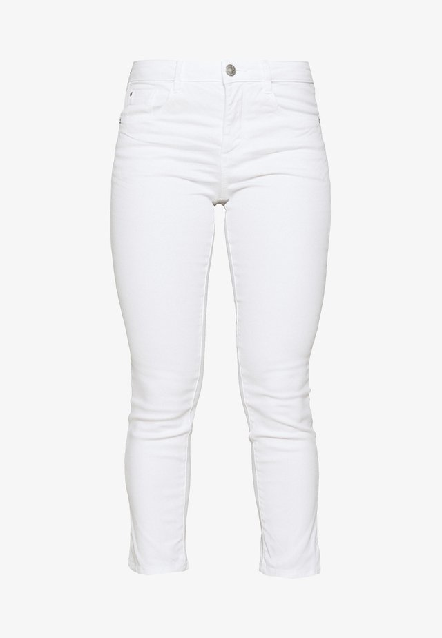 TOM TAILOR ALEXA CROPPED - Jean slim - white