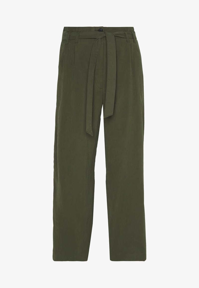 TOM TAILOR - SOFT FLOWING CULOTTE - Trousers - woodland green