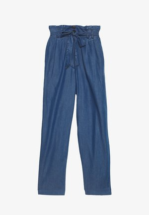 SOFT FLOWING CULOTTE - Trousers - blue denim