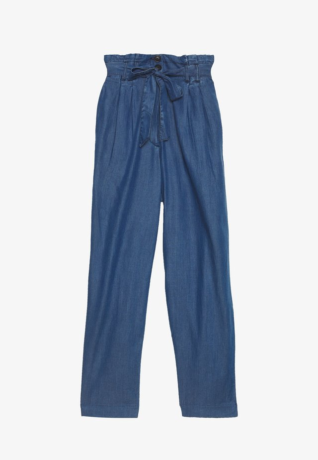 SOFT FLOWING CULOTTE - Trousers - blue denim