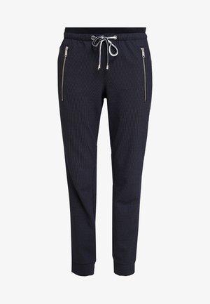 LOOSE FIT PANTS WITH ZIPS - Broek - navy blue