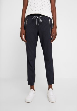 LOOSE FIT PANTS WITH ZIPS - Trousers - navy blue