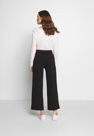 WIDE LEG PANTS - Trousers - deep black