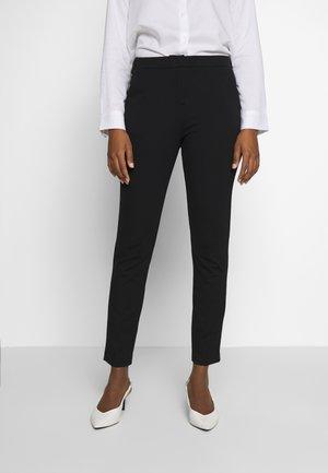 PANTS PUNTO DI ROMA - Spodnie materiałowe - deep black