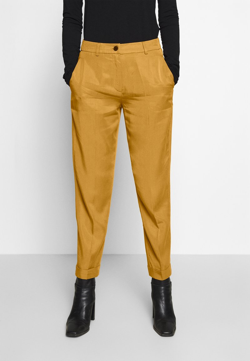 mine to five TOM TAILOR - PANTS  - Tygbyxor - clay beige brown
