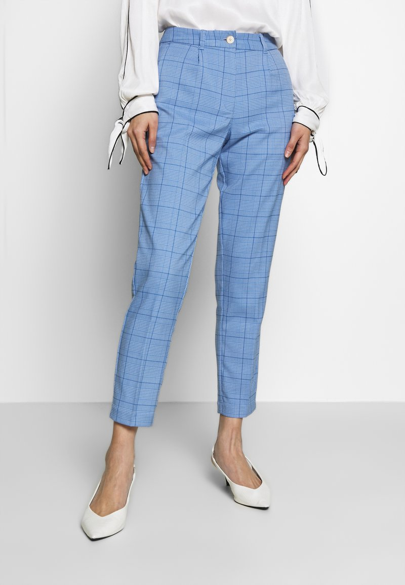 mine to five TOM TAILOR - MODERN GLENCHECK - Chinos - blue