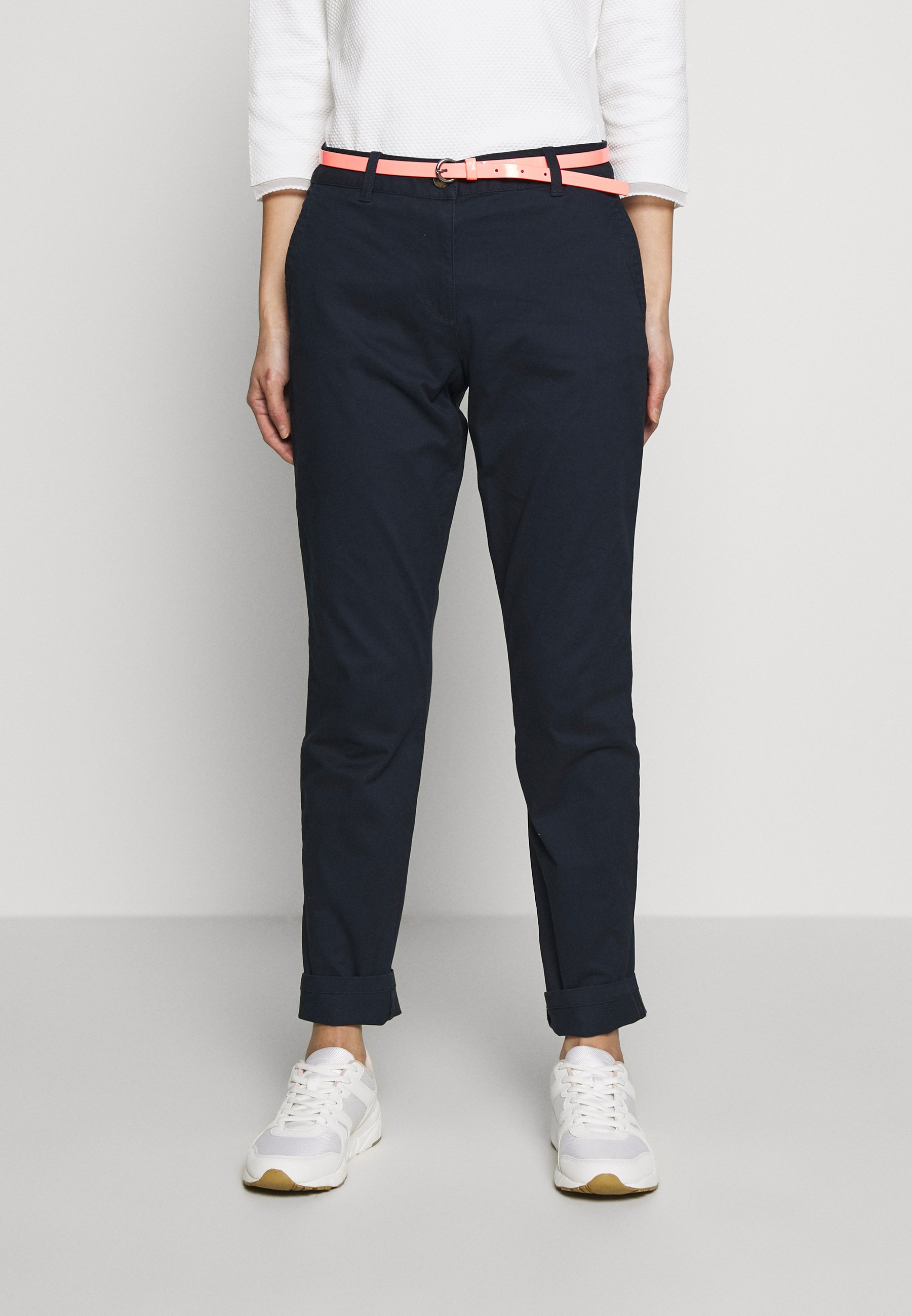 TOM TAILOR BELTED SLIM - Chinosy - sky captain blue