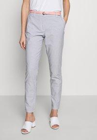 TOM TAILOR - BELTED SLIM - Chino kalhoty - blue - 0