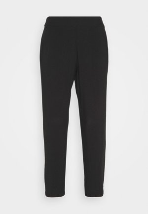 LOOSE FIT PANTS - Spodnie materiałowe - deep black