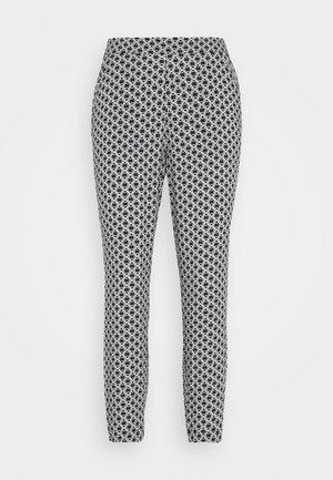 LOOSE FIT PANTS - Spodnie materiałowe - black