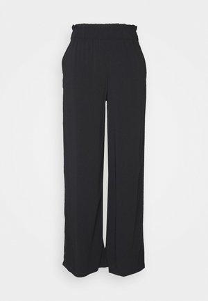 CULOTTE WITH FRILLS - Pantaloni - deep black