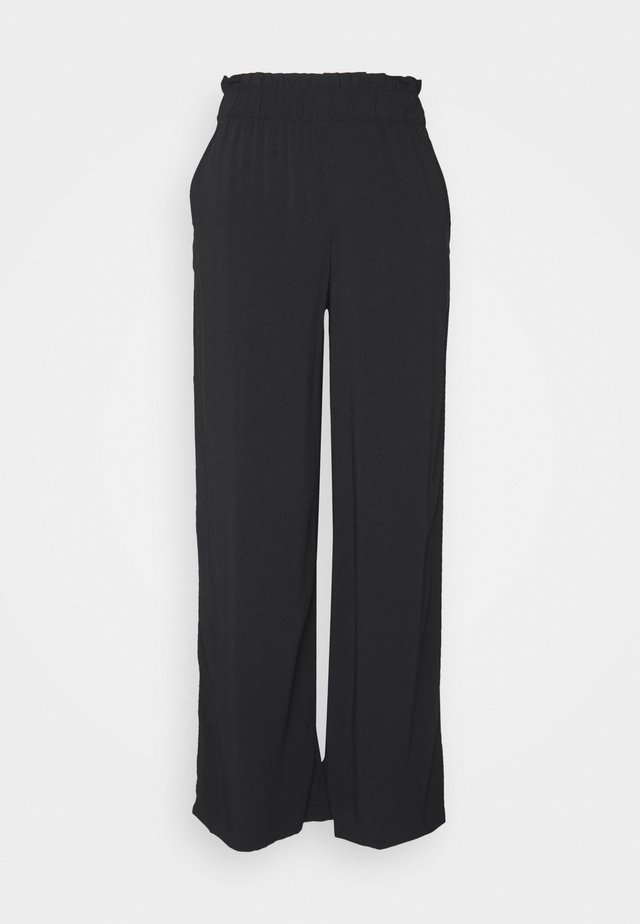 CULOTTE WITH FRILLS - Pantalon classique - deep black