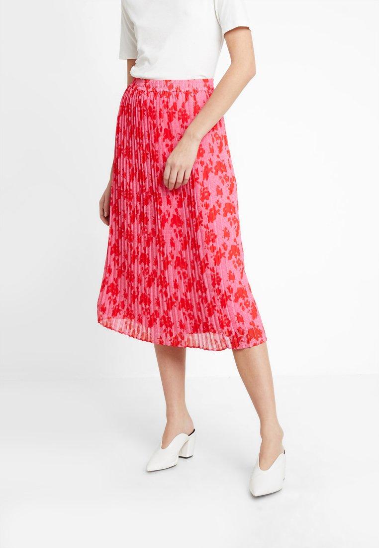 TOM TAILOR - SKIRT PLISSEE - Pleated skirt - pink/red
