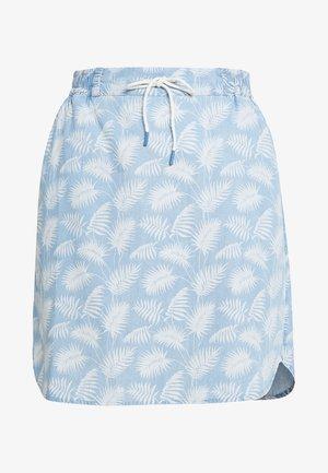 SKIRT - Spódnica jeansowa - blue/white