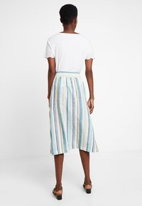 TOM TAILOR - SKIRT MIDI STRIPED - A-line skjørt - white - 3