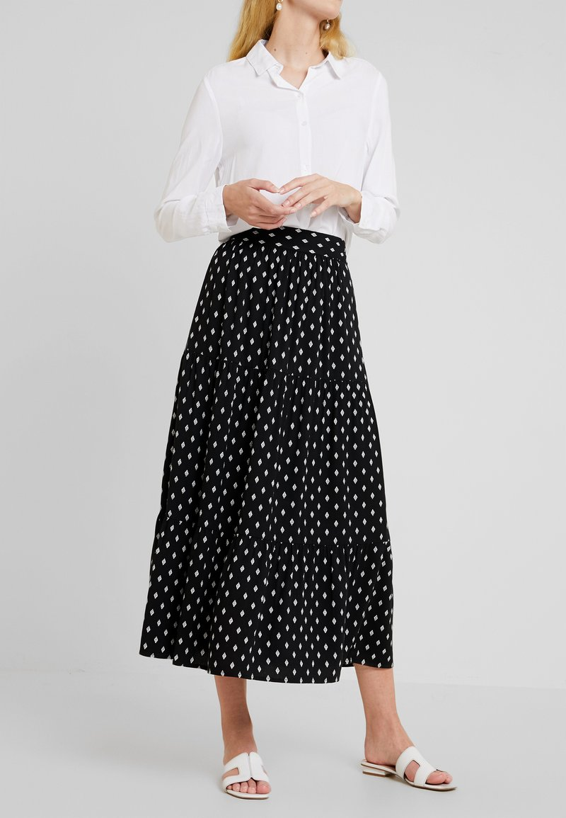 TOM TAILOR - Maxi skirt - black