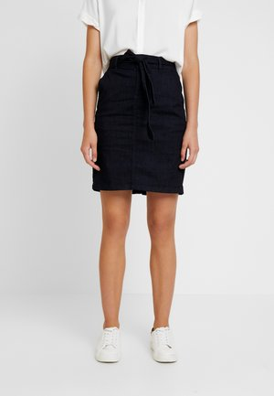DARK SKIRT - Kokerrok - clean rinsed blue denim